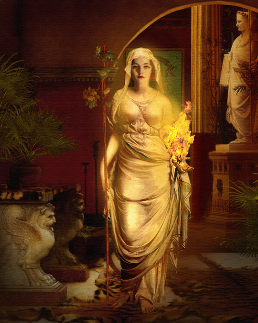Hestia goddess art greek myth and legend